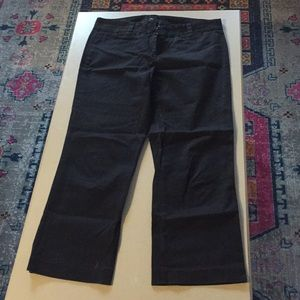 J crew cropped ankle length black chinos 6